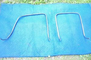 1967 Mustang Shelby Deluxe Seat Back Stainless Trim Pair
