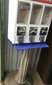 Triple head Candy Vending Machine With Stand