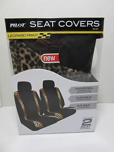 Pilot Leopard Print Sc 447 Universal Bucket Seat Covers Set Of 2