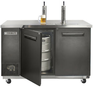 Maxx Cold Commercial 59 1 Wide Direct Draw Beer 2 Keg Cooler Kegerator 2 Taps