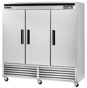 Maxx Cold Commercial Frost Free Sub Zero 3 Three Door Upright Reach in Freezer