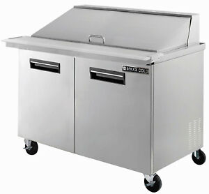 Maxx Cold Mcr48m 48 3 Commercial Mega Top Salad And Sandwich Prep Table Cooler