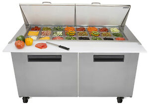 Maxx Cold Mcr60m 60 4 Commercial Mega Top Salad And Sandwich Prep Table Cooler