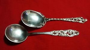 2 Vintage Silver Spoons From Norway
