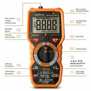Multimeter Voltage Tester Digital Battery New