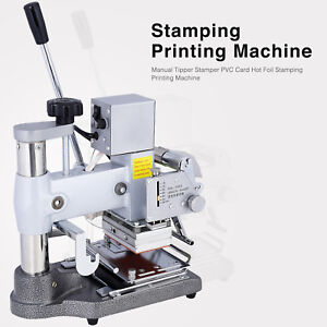 Manual Tipper Stamper Pvc Card Hot Foil Stamping Printing Machine W 2 Roll Foil