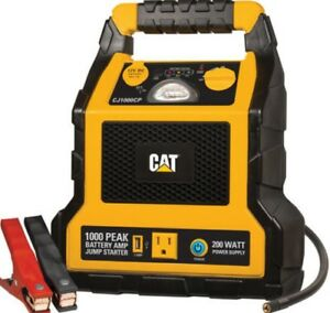 Cat Emergency 1000 Jump Start Car Truck Battery Booster Starter Compressor Light