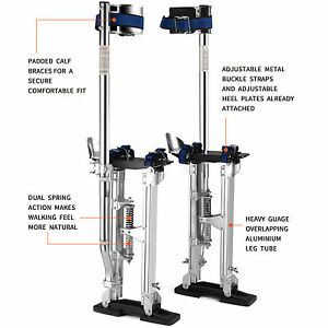 New 18 30 Drywall Stilts Painters Walking Taping Finishing Tools Aluminum