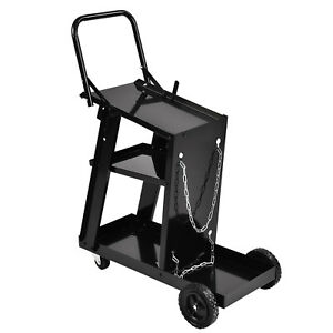 New Welder Welding Cart Universal Storage For Tanks Plasma Cutter Mig Tig Arc