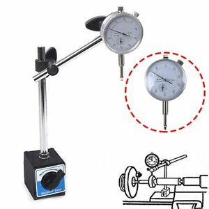 Dti Stand Magnetic Base With Dial Gauge Metric Test Indicator Clocks Tool Set Us