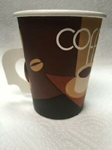 1000 Paper Hot Cups W Handle 8oz 20 Sleeves Of 50 Cups Per Case coffee tea