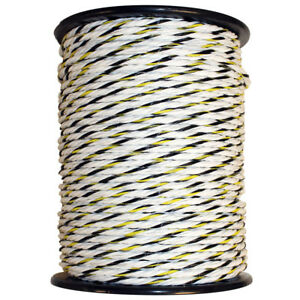 Electric Horse Fence 1 4 Poly Rope White 656
