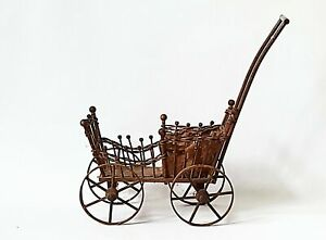 Antique Victorian Style Wicker And Wood Doll Carriage