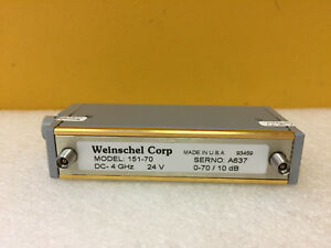 Weinschel 151 70 Dc To 4 0 Ghz 0 To 70 Db 3 5mm f Programmable Attenuator New