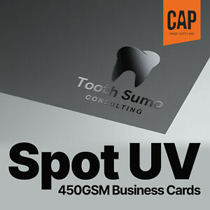 Spot Uv Laminated Business Cards Single Or Double Sided Personalised Printing
