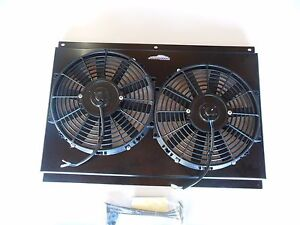 High Output Dual Electric Cooling Fans W Shroud 70 81 Camaro C 10 Chevy Truck