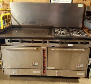 60 Southbend 36 Griddle 2 Convection Ovens 4 Burners Grill Range Gas