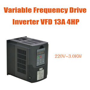 Updated Vfd Variable Frequency Drive Inverter Top 4hp 13a 3kw 220v