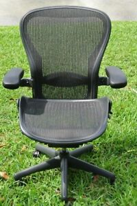 Herman Miller Aeron Mesh Office Chair Large Size B Fully Adjustable Posture Fit