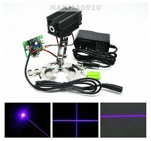 Dot line cross 100mw 405nm Violet purple Blue Laser Module W Adapter