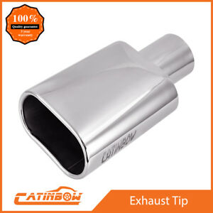 Stainless Steel Exhaust Tip Weld On 2 5 Inlet 5 5 X 3 Outlet 9 Long