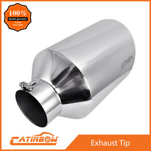 Diesel Stainless Steel Bolt On Exhaust Tip Angel Cut 5 Inlet 10 Outlet 18 Long