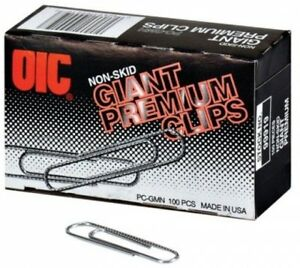 Oic Giant size Non skid Paper Clips 10 Boxes Of 100