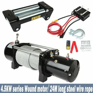Aftermarket 12000lbs Electric Winch Steel Wire Rope Wireless Remote Universal