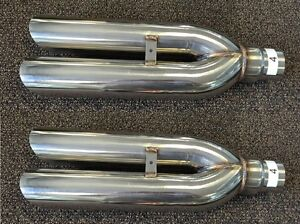 2x Version 4 1320 Performance Blastpipes Blast Pipe Exhaust Stainless Universal