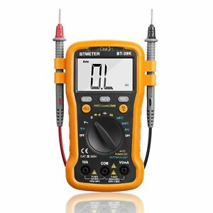 Multimeter Bt 39k Auto Range Digital Avometer Universal Meter 4000 Counts With
