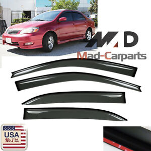 Window Visor Shade Sun Guard For Toyota Corolla 2003 2004 2005 2006 2007 2008
