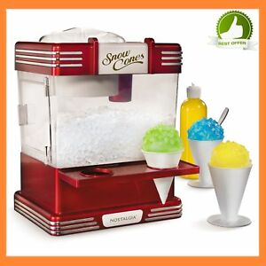 Rsm602 Retro Commercial Ice Snow Frozen Cone Maker Machine Kit Ice Cream Maker