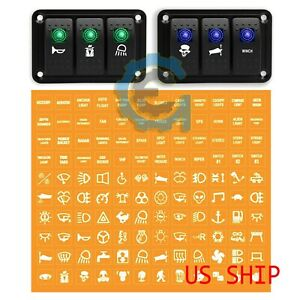 Clear Rocker Switch Label Decal Circuit Panel Sticker Car Boat Truck Marine