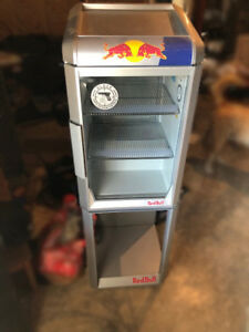 Updated Shipping Sale Red Bull Mini Fridge Commercial Grade Led Lights W stand