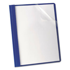 Oxford Premium Paper Clear Front Cover 3 Fasteners Letter Blue 25 box