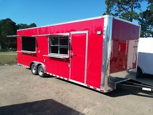 2018 Lark United 8 5x26ta Concession Food Vending Trailer loaded
