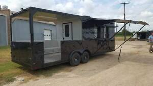 New 8 5x24ta Concession Food Trailer W black Out Pkg And 10 Rear Porch