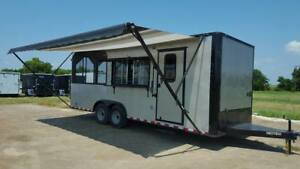 New 2018 8 5x24ta Concession Food Trailer With 10 Screen Porch