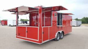 new 2019 Concession Food Trailer 8 5x22ta With 4 Concession Doors loaded