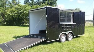 2018 Lark 8 5x16ta Concession Food Vending Enclosed Trailer W finished Interior