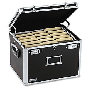 Locking File Chest Storage Box Letter legal 17 1 2 X 14 X 12 1 2 Black