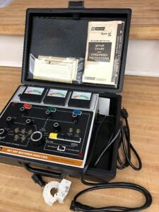 Vintage B K 467 Picture Tube Restorer Tester Analyzer In Case With Manual