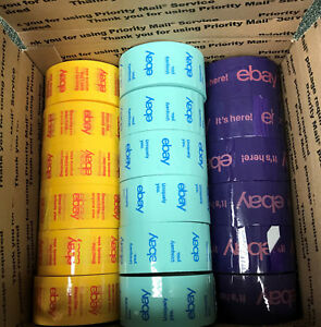 Lot Of 18 Rolls Official Ebay Branded Packaging Tape Free Shipping