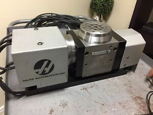 Compact Haas Tr110 Trunnion 4th 5th Axis Brushless Sigma 1 Rotary Table