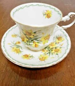 Queen Rosina Daffodil Tea Cup And Saucer Set Special Flowers