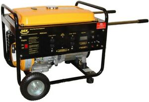 Dek Generator Gas Powered 8 130 watt Recoil Start Portable Low Oil Shutdown