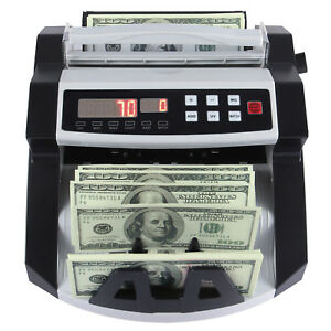 New Money Bill Cash Counter Currency Counting Machine Bank Uvmg Counterfeit