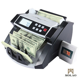 New Bill Money Cash Counter Counting Machine Bank Counterfeit Detector Uv