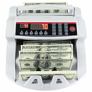 Money Cash Counting Machine Bill Counter Bank Uv Mg Counterfeit Detector New