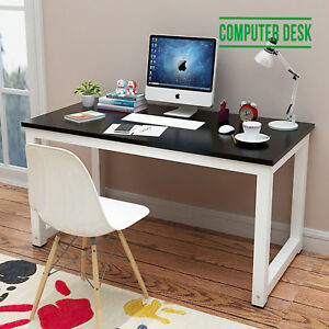 Home Furniture Black Office Computer Desk Pc Laptop Table Workstation Study